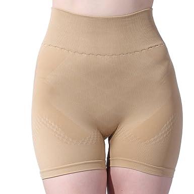 807ff1ae6d Franato Women s Shapewear High Waisted Seamless Underbust Tummy Control  Boyshort Small Beige
