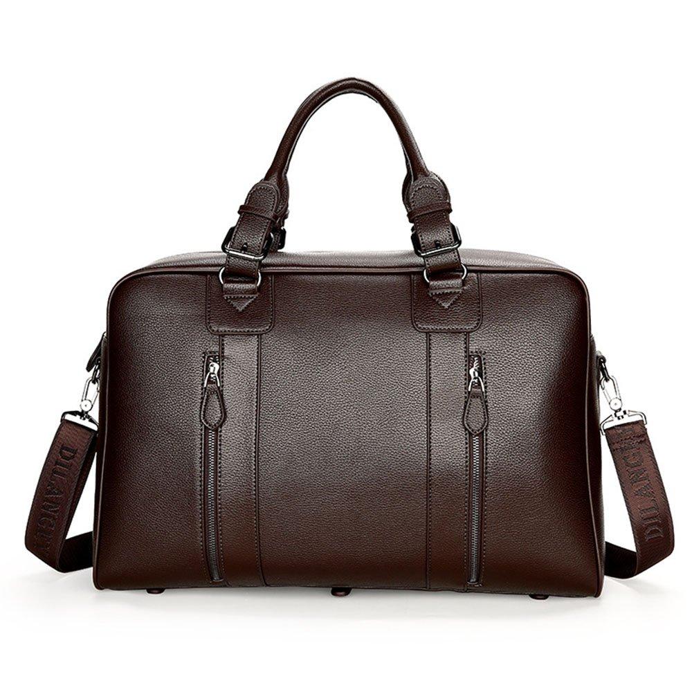 Yangjiaxuan Men High Capacity Handbag Business Bag Travel Bag Briefcase Short-Distance Luggage (Color : Brown)