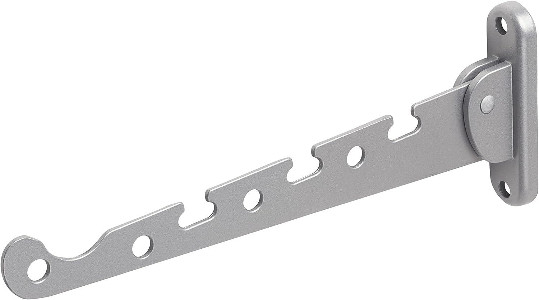 20 kg Tragkraft Platzsparende Klappfunktion // Kleiderstange // Wandhaken // Klapphaken // Aufh/ängevorrichtung // 250027 Metafranc Kleiderl/üfter braun 290 x 30 mm Stabiles Material