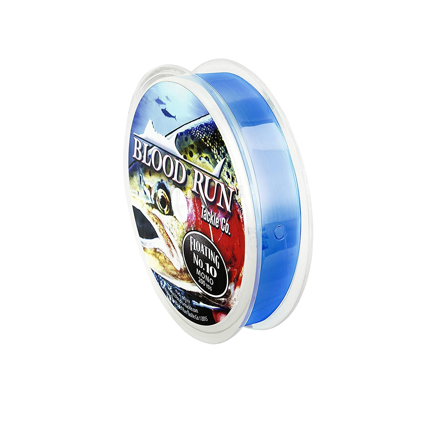 Blood Run Floating Mono (Clear, 15 lb) Blood Run Tackle