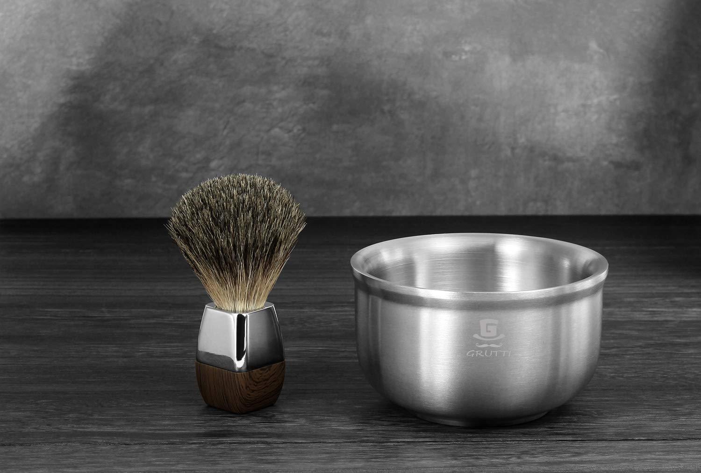 Tazón de jabón de afeitar GRUTTI, taza de espuma de afeitado para ...