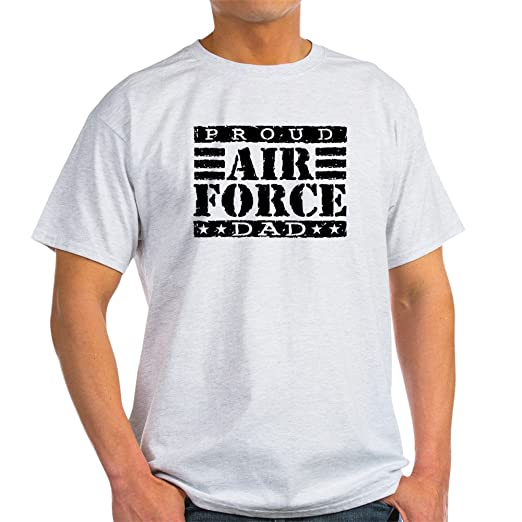 348a1790 Amazon.com: CafePress Proud Air Force Dad Light T-Shirt Cotton T-Shirt:  Clothing