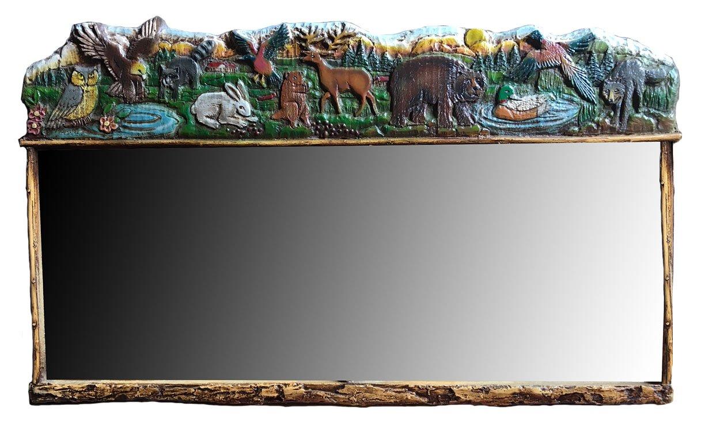 Rustic Cabin Decor Wildlife Mirror