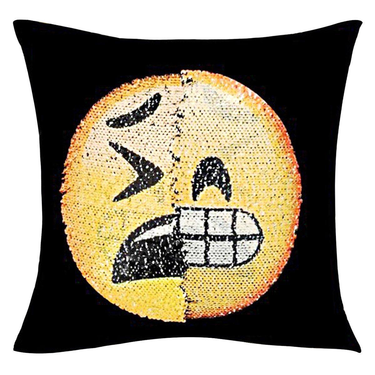 Xidan CFL Funda de Cojín Reversible de Emoji, Funda de ...