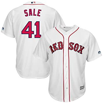 ad592c49d28 Majestic Chris Sale  41 Boston Red Sox Cool Base MLB Jersey Home   Amazon.co.uk  Sports   Outdoors
