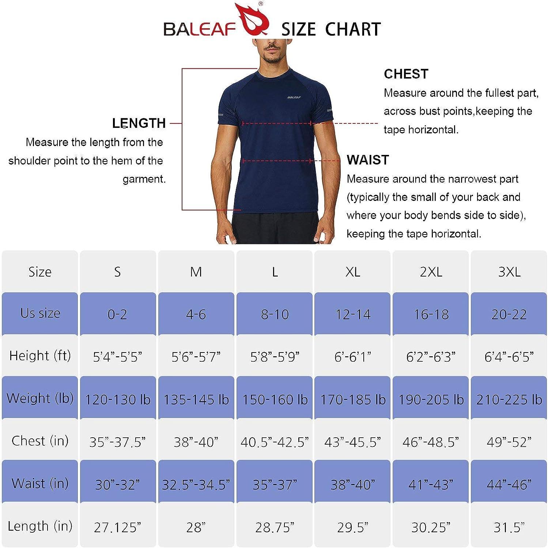 BALEAF Mens Quick Dry Short Sleeve T-Shirt Sun Protection Running Workout Shirts