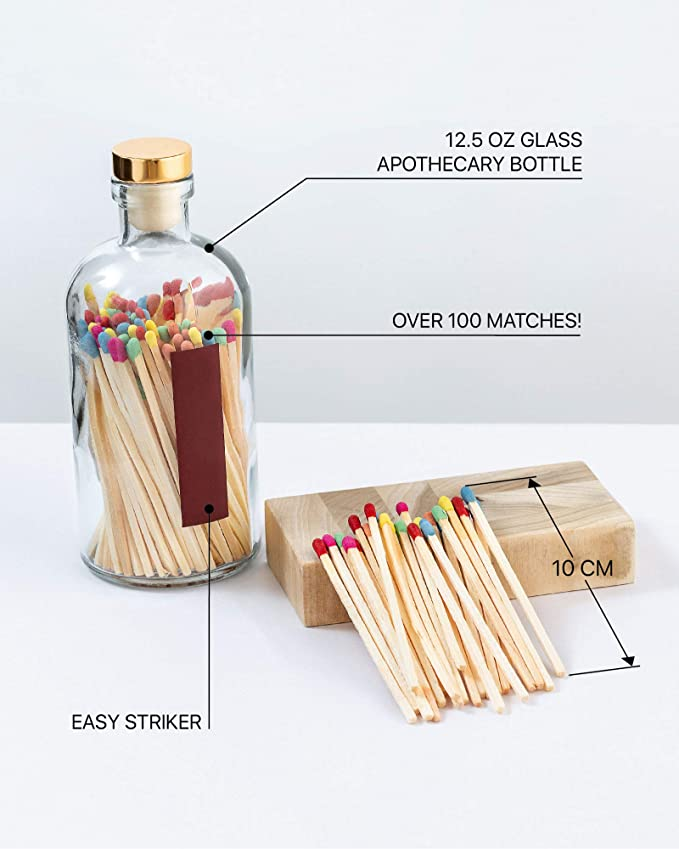 Rainbow Safety Matches for Lighting Candles with Match ...