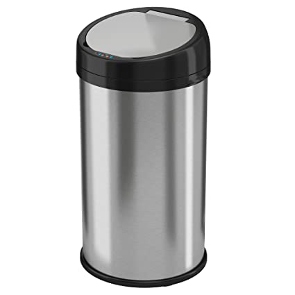 amazon com itouchless 13 gallon stainless steel automatic trash can rh amazon com touchless kitchen trash can reviews costco touchless kitchen trash can