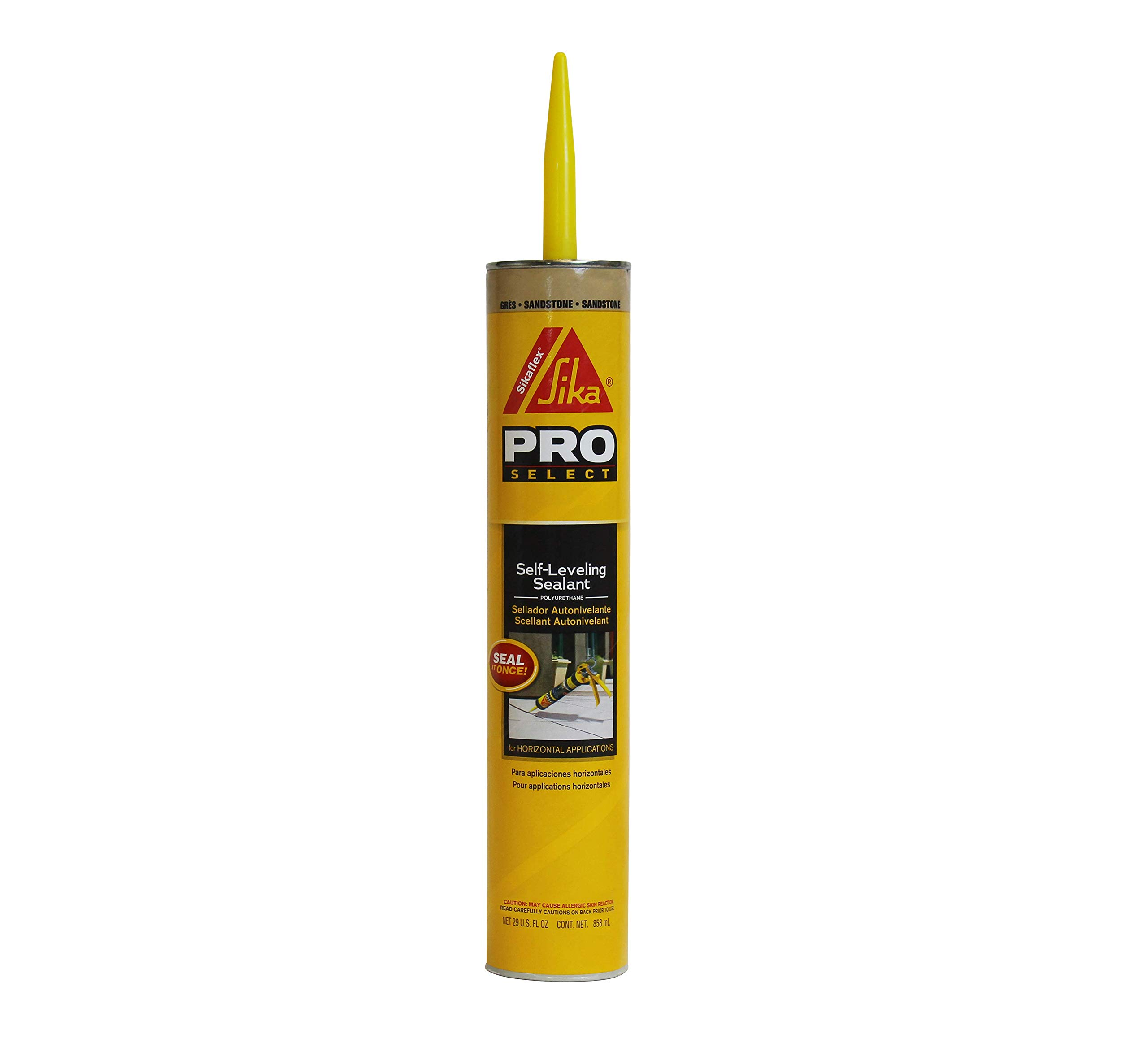 Sikaflex Self-Leveling Sealant, 29 fl. oz Cartridge, Sandstone