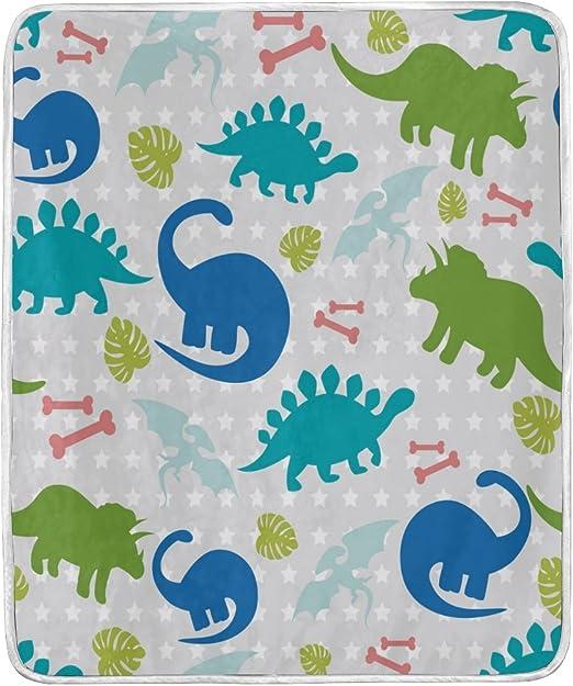 150 cm Manta de dinosaurio de dibujos animados divertido impreso suave ni/ño ni/ña beb/é coral animales mantas c/álido sof/á cama s/ábanas 200