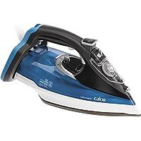 Calor FV9710C0 Fer à Repasser Vapeur Ultimate Effet Pressing jusqu'à 210g/min Semelle Auto-nettoyante Contrôle Automatique 2800W Noir et Bleu