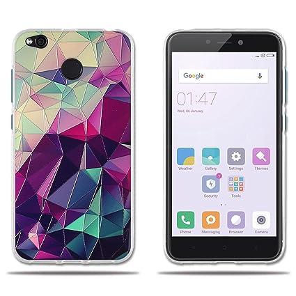 FUBAODA Funda Xiaomi Redmi 4X Carcasa de Silicona TPU,3D Relear,Dibujo de Colorido Cubo Mágico,Flexible Resistente a Los Arañazos en su,Funda ...
