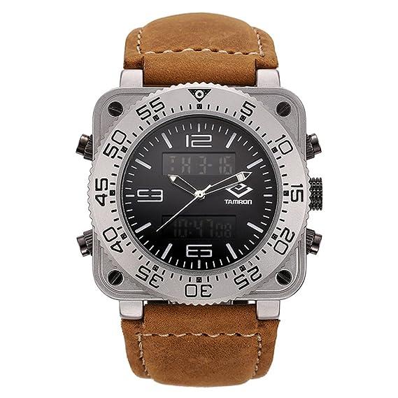 Hombre Relojes militares,30m impermeable Timing Luminoso Pantalla doble Aire libre Reloj deportivo Multifunción Relojes