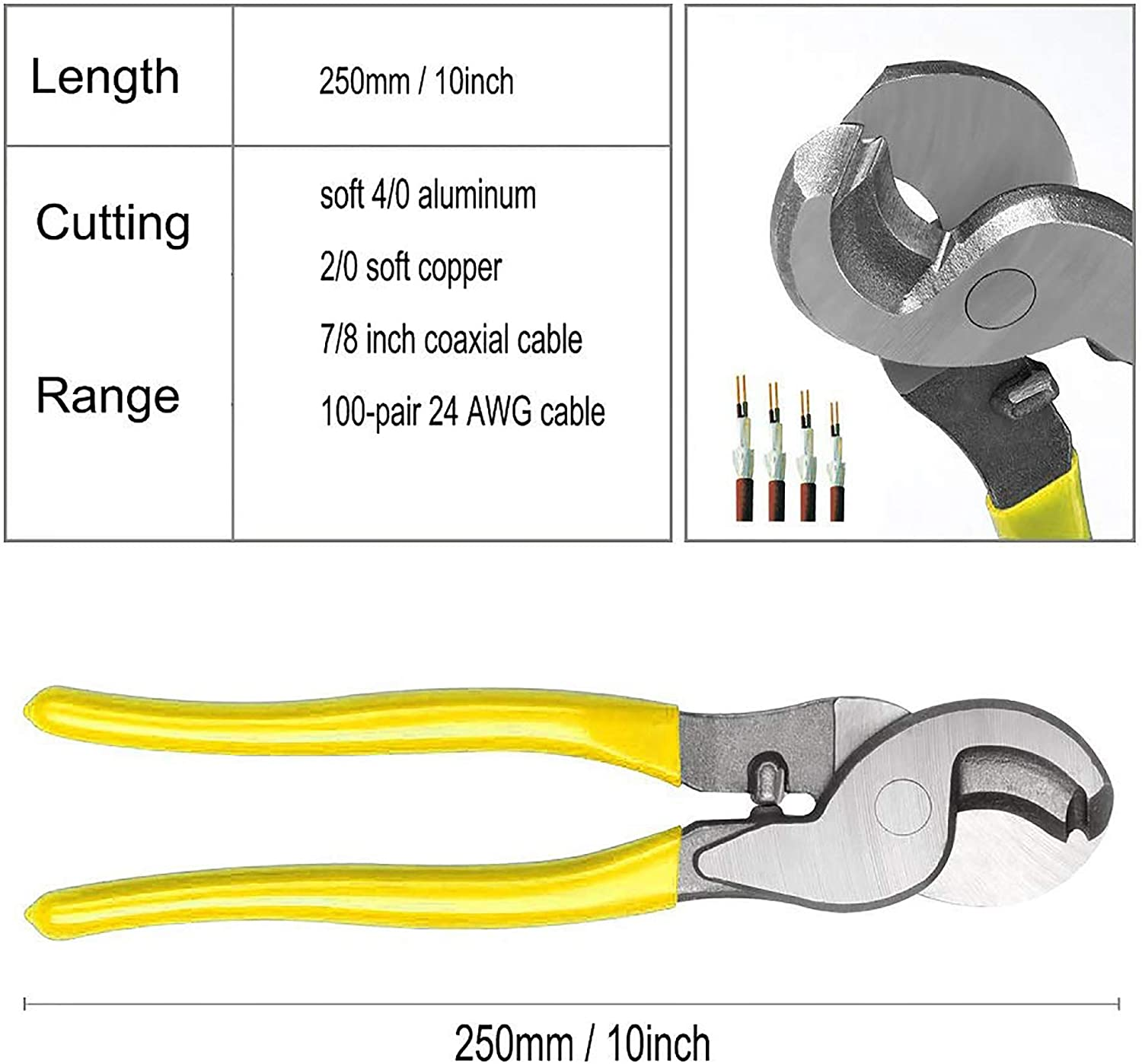 KOTTO Battery Cable Lug Crimper Tool with Storage Bag