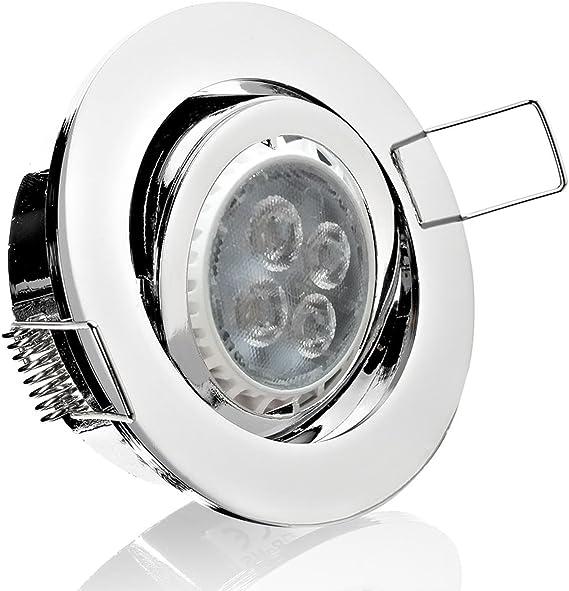 Einbauleuchte GU10 12V//230V Chrom