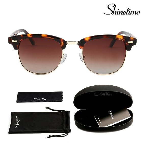 Gafas de sol, Shinetime Gafas de Sol Polarizadas Semi Sin Montura Mujeres Hombres Retro UV400 (Tortuga Marrón): Amazon.es: Ropa y accesorios