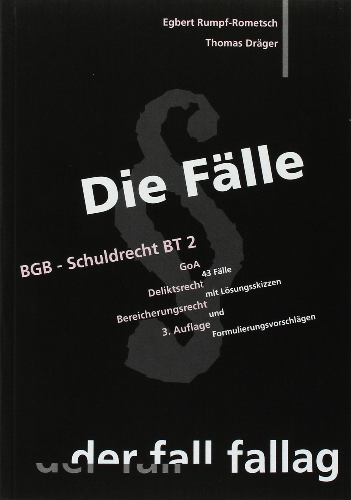 BGB Schuldrecht BT 2  Deliktsrecht Bereicherungsrecht