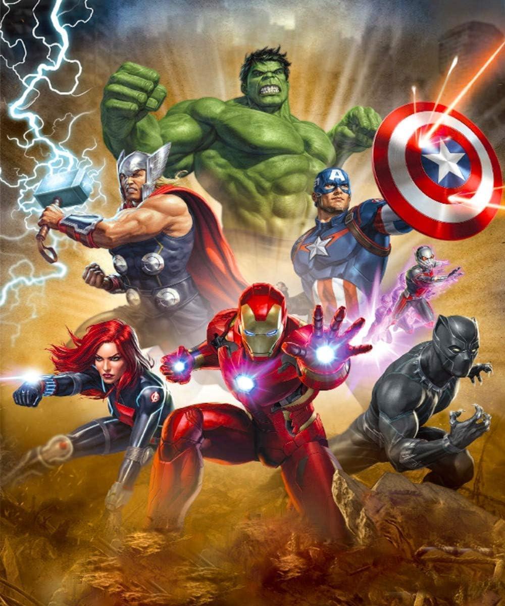 Kits de pintura de diamantes DIY 5D para adultos, taladro completo, artesanía de diamantes para decoración del hogar, kits de diamantes Hulk, Capitán América, Iron Man 35x45 cm (The Avengers)
