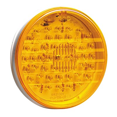 "Maxxima M42100Y 48 LED Amber 4"" Round Park/Rear Turn Light: Automotive"