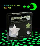Amazon Price History for:Glowing in the Dark Stars Wall Stickers Adhesive 200 Stars and 1 Glowing Moon for Kids Bedding Room,Ceiling Decors