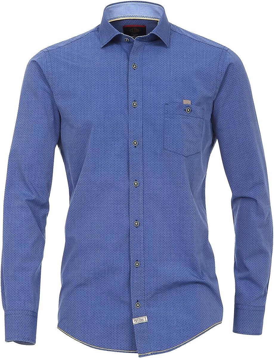 Casa Moda Camiseta de Manga Larga XXL Azul punteada, 2xl-8xl ...