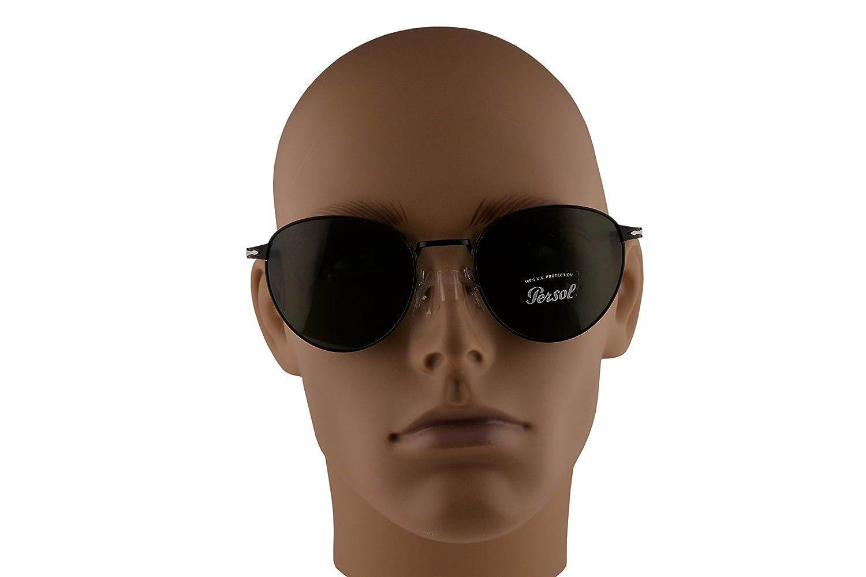 1620224307463 Amazon.com  Persol PO2445S Sunglasses Black w Green Lens 52mm 107831 PO 2445 -S PO2445-S PO 2445S  Clothing