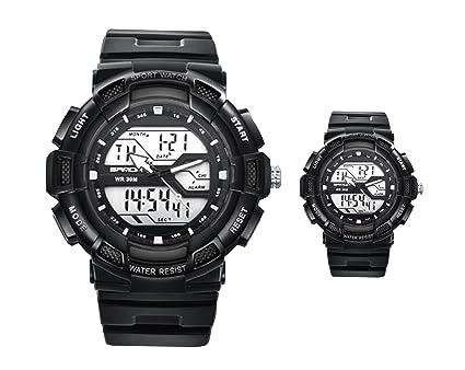 Amazon.com: 2 piezas Hombre y Mujer Deportes reloj digital ...