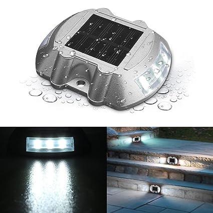 SOLMORE Solar Dock Light, LED Deck Light Solar Lights Path Road Dock Lights  Waterproof Outdoor