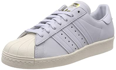 adidas Womens Superstar 80s Low-Top Sneakers Aero Blue/Off White 0, 7.5