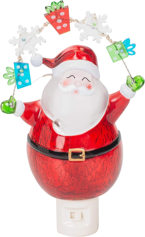 Night Light Santa And Garland 7 75 Led Christmas Light Decor Amazon Com