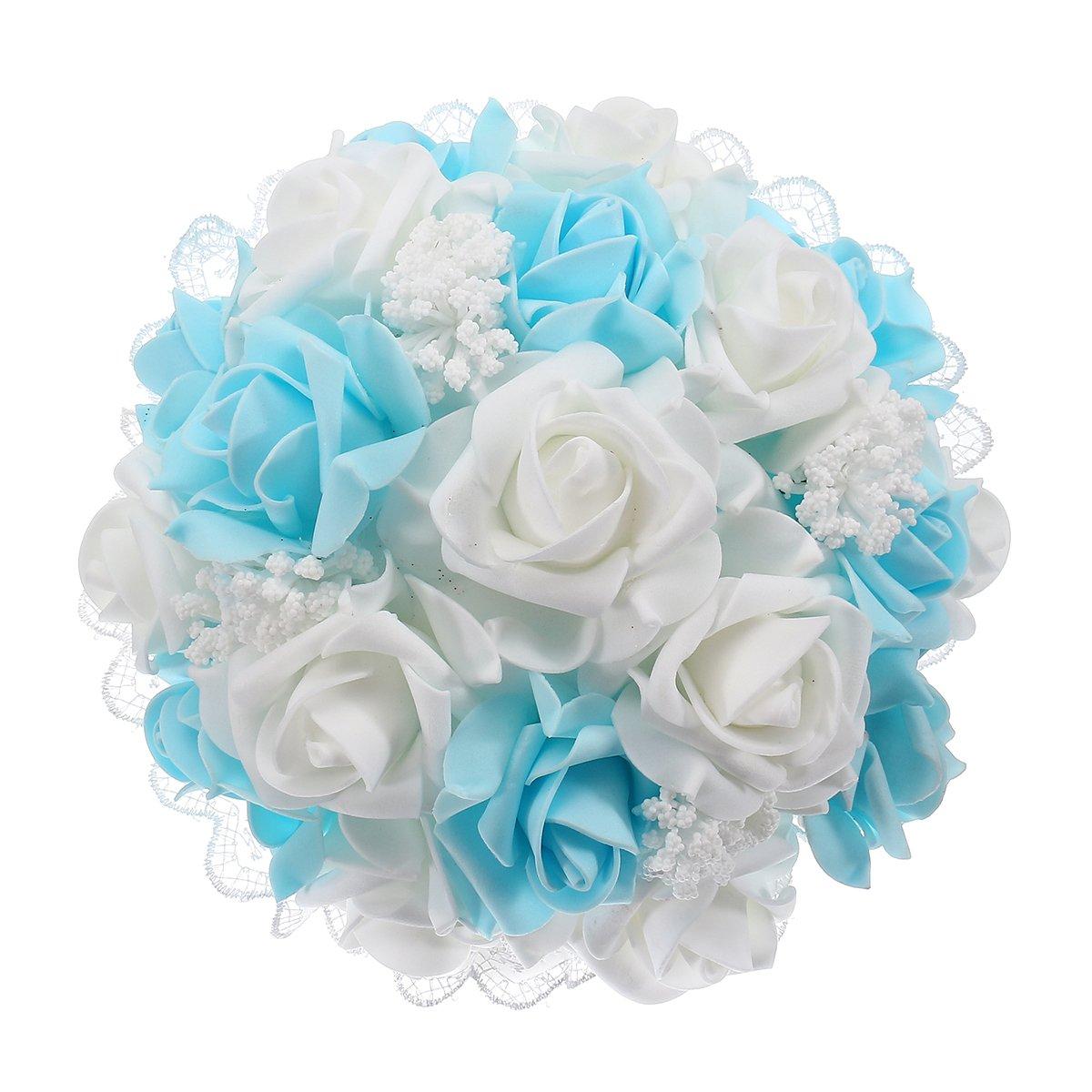 Bouquets De Mariage Decoratifs Artificielle En Mousse Rose Fleur