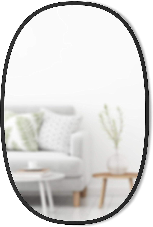 Amazon Com Umbra Hub Oval Wall Mirror 24 X 36 Inch Black Home Kitchen