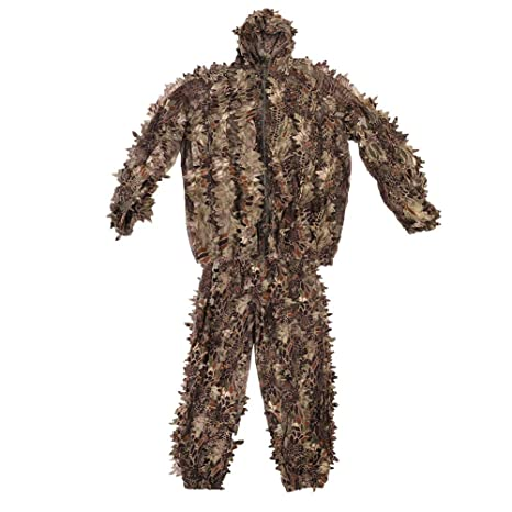 Tbest Ghillie Suit 3D,Traje de Camuflaje Ghillie Sniper ...