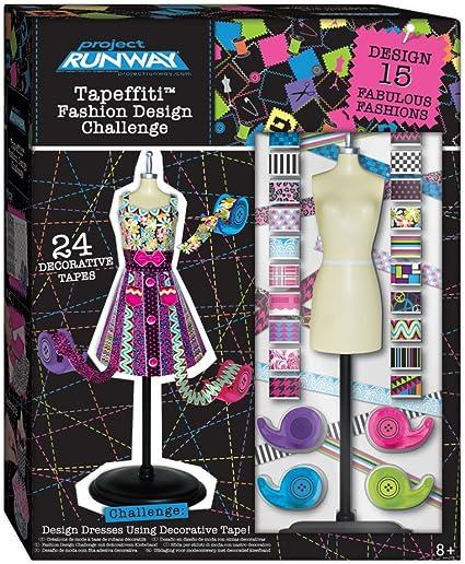 Amazon Com Project Runway Tapeffiti Fashion Design Challenge Toys Games