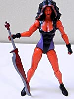"""Marvel Legends RED SHE-HULK 6"""" inch Review (Hasbro action figure toy)"""