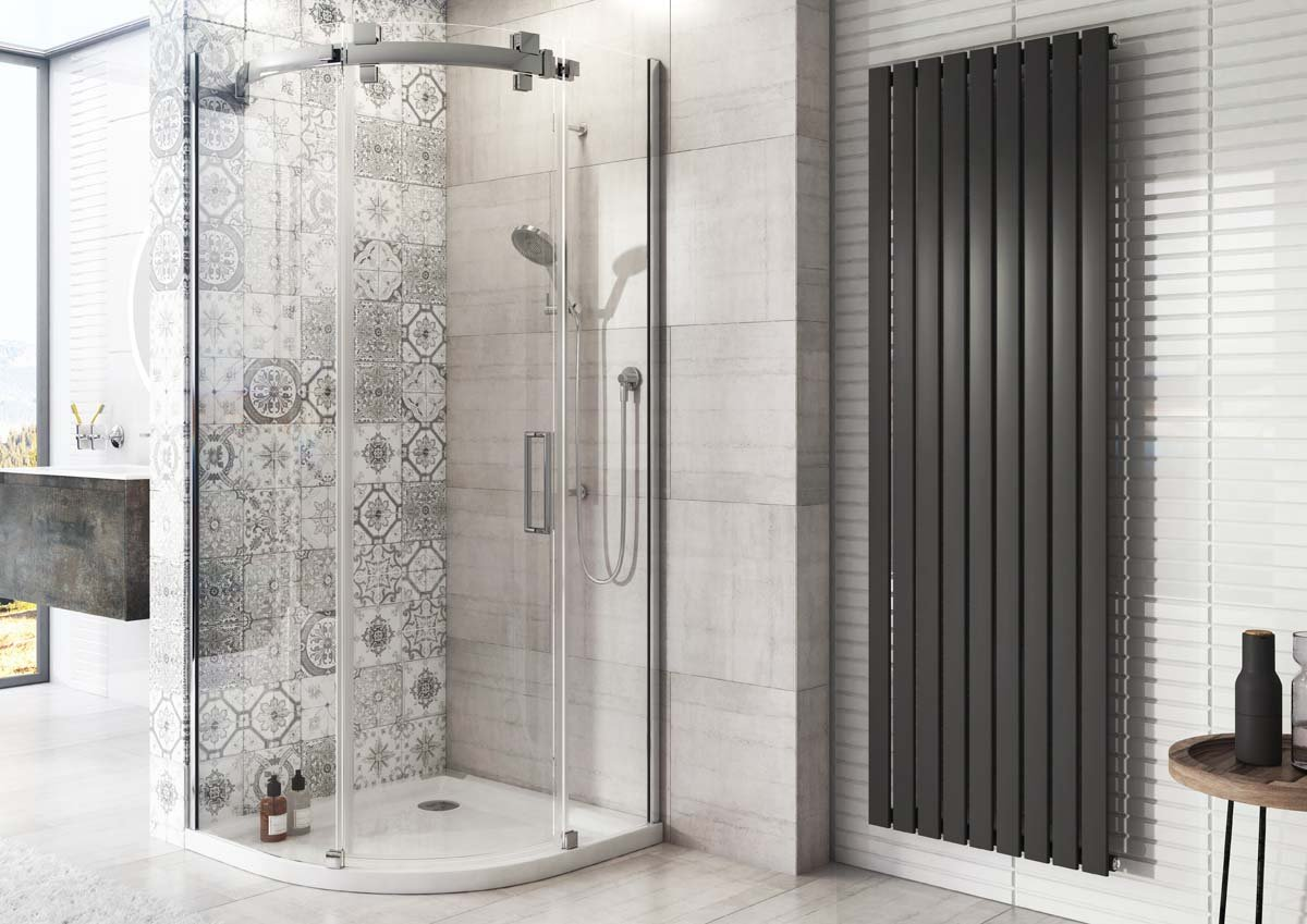 Pinta Vertical Single Radiator 1800 x 610 Anthracite The Bath People