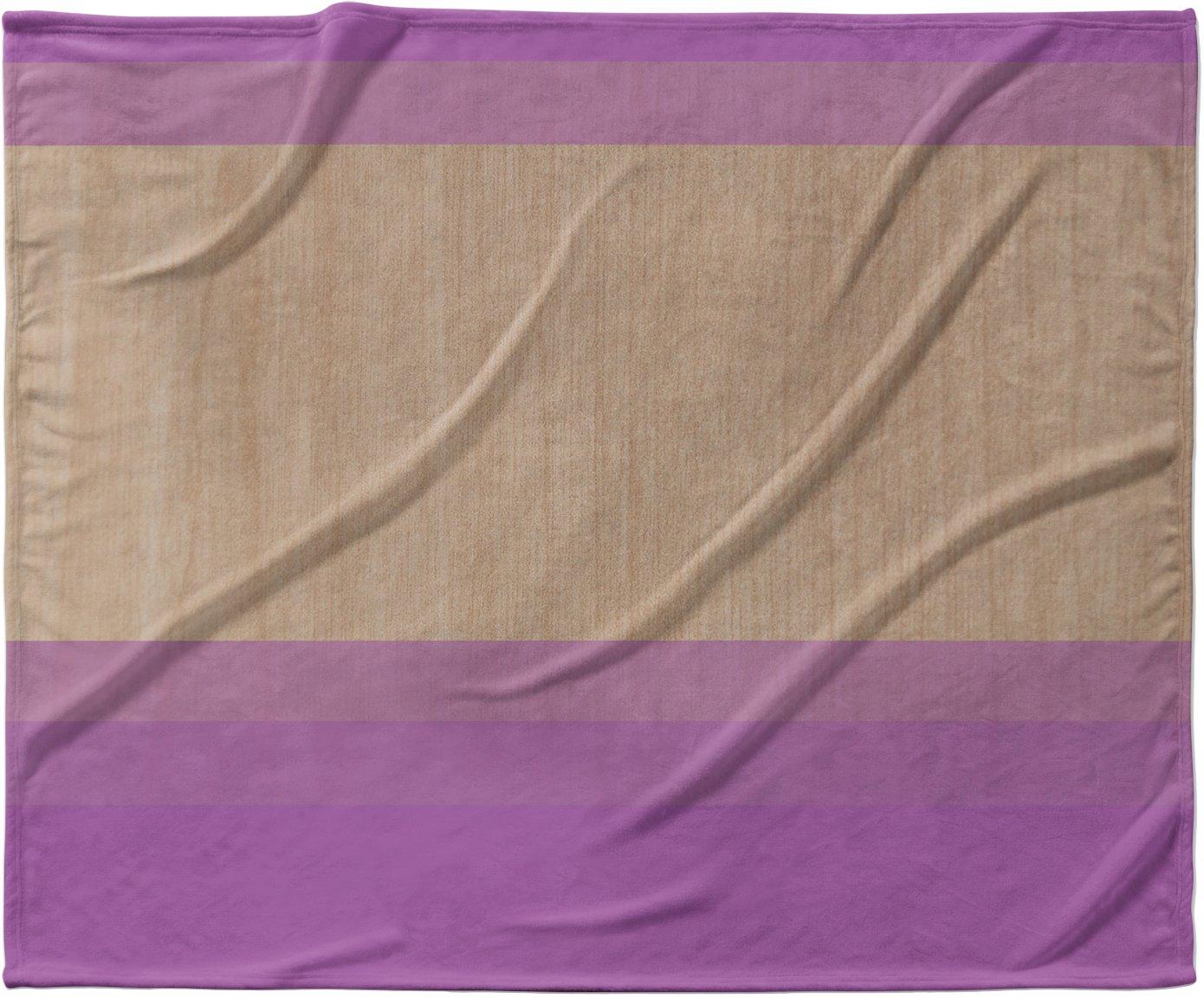 KESS InHouse Brittany Guarino ''Art Purple'' Lavender Wood Fleece Baby Blanket, 40'' x 30''