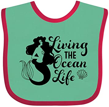inktastic Living The Ocean Life with Mermaid Silhouette Baby T-Shirt