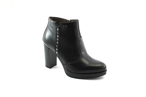 Nero Giardini 6322 Botines Negros Botines de Mujer con Cremallera de Cuero 40: Amazon.es: Zapatos y complementos
