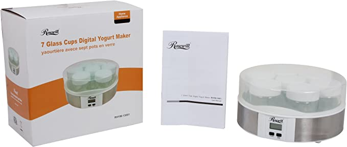 Amazon.com: Rosewill Digital yogurtera, Blanco: Kitchen & Dining