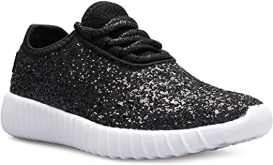 5714af051619 Girls Lace Up Fashion Sneaker Glitter Kicks Flexible Tennis Shoe Casual  Comfort Lightweight Flat Shoes RM18K