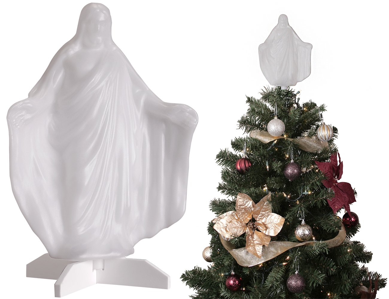 Amazon.com: Christmas Tree Ornament - Christ Tree Topper - 10 in ...