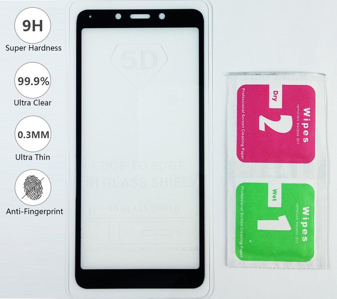 BLUGUL Funda Xiaomi Redmi 6 Ultra Delgado Sensaci/ón de Seda Totalmente Protector Cristal Templado y Dura Cover para Redmi 6 Negro Protector de Pantalla