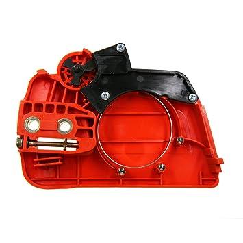 Tapa lateral de plástico para freno de cadena, embrague y piñón de JRL, para motosierras Husqvarna 235, 235E y 236: Amazon.es: Coche y moto