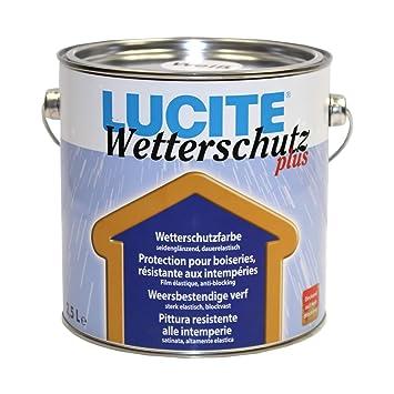 Gut bekannt 2,5L Lucite Wetterschutz Plus weiss Holzschutzfarbe Holzfarbe YN24