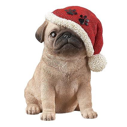 b780eea7f1f Amazon.com  Collections Etc Christmas Puppy Dog in Santa Hat ...
