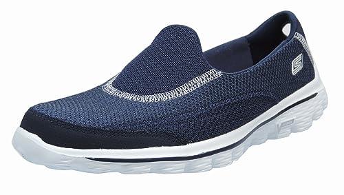 Skechers 13590 - Mocasines de tela para mujer azul Navy 41: Amazon.es: Zapatos y complementos