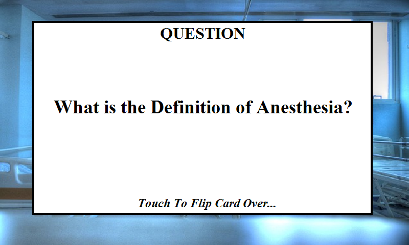 Anesthesiology Flashcards
