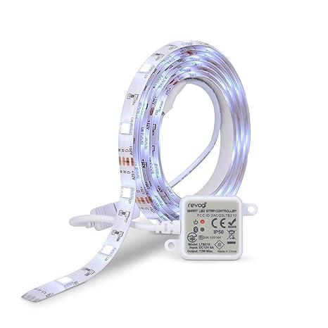 Revogi Smart Color LED Lightstrip, RGB, Dimmable, Bluetooth 4 0, Low