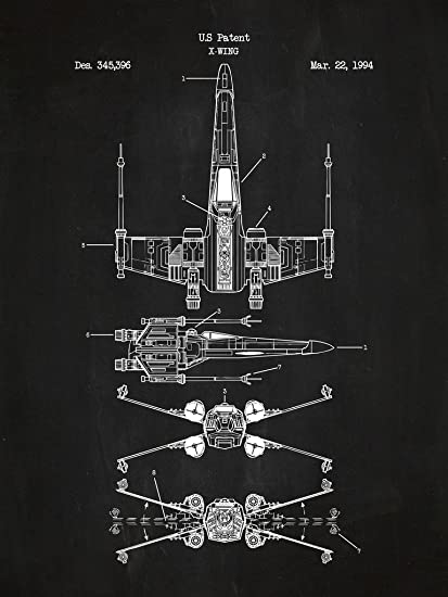 Inked and Screened SP_SYFI_345,396-2_CH_24_W Sci-Fi and Fantasy Star on b-wing schematics, at-at schematics, a wing fighter schematics, tie interceptor schematics, minecraft schematics, y-wing schematics, halo warthog schematics,